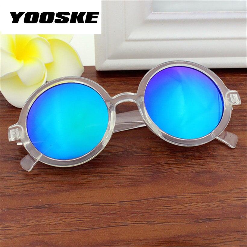Yooske Vintage Round Sunglasses Women Classic Retro Coating Sun Glasses Female Male Sun Glasses 1