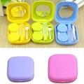 1 unid Espejo de Bolsillo vendedor caliente Mini Contact Lens Kit Travel Case Contenedor de Alta Calidad portable Lindo 5 colores