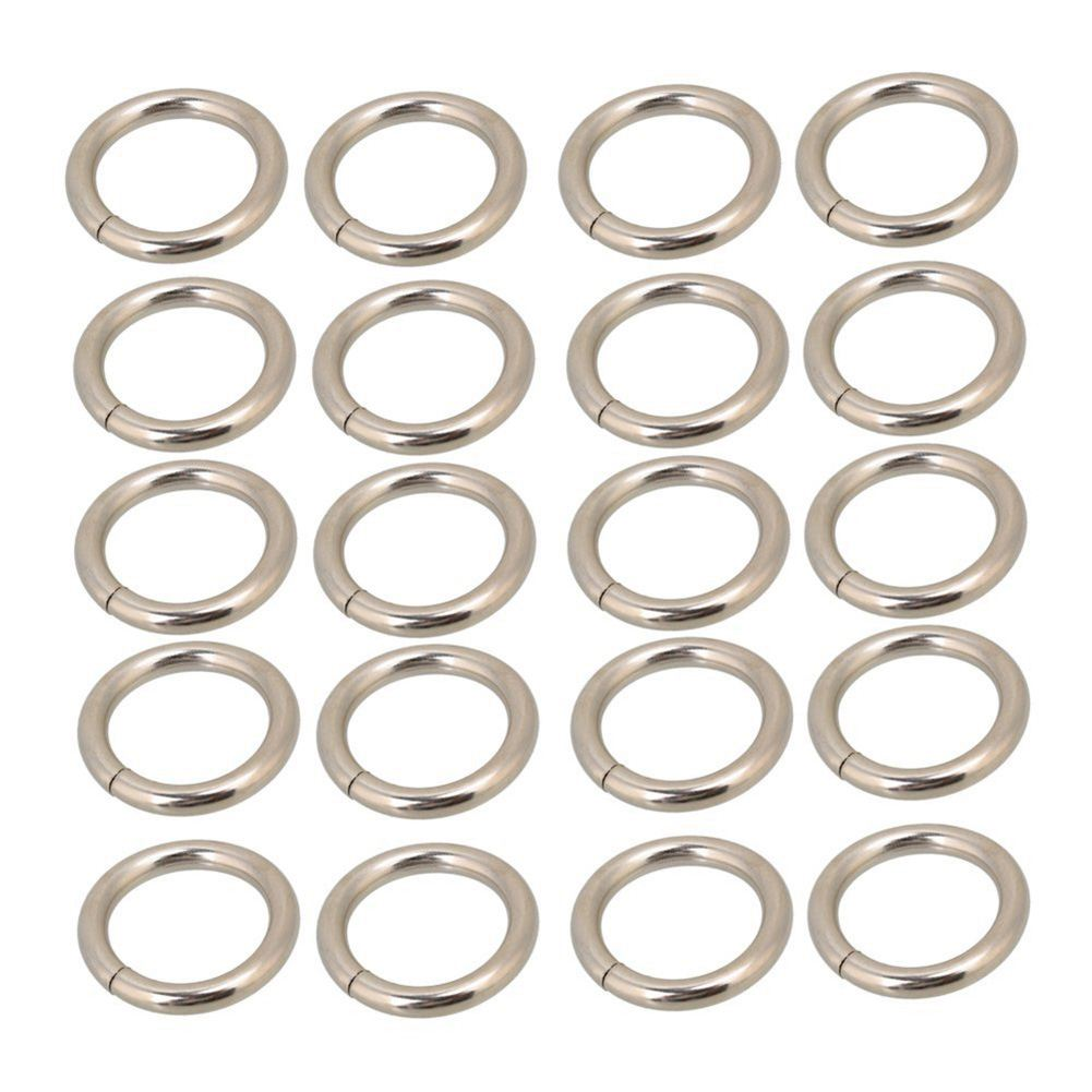 Best Silvery Metal Heavy O Ring O Shaped Belt Buckle for Purses Bags Backpack Straps Pack of 20