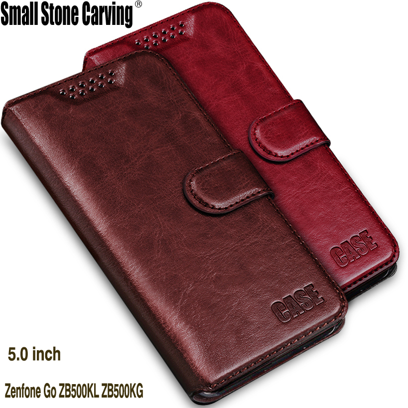 "Flip Skinas για Asus ZB500KL θήκη πορτοφολιών δέρματος περίπτωση Cover για Asus Zenfone Go ZB500KL ZB500KG υπόθεση 5 ""τηλέφωνο πίσω Coque"