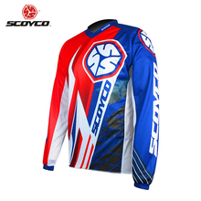 SCOYCO Professional Motocross Off-Road Racing Jersey Motorcycle Dirt Bike MTB DH MX Long Sleeve T-Shirt Breathable Clothing