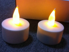 12 pcs LED Rechargeable Flameless Tealight Candle Set Waxless Decor