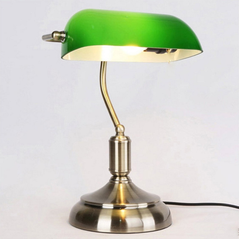 Traditional Antique Green Bankers Table  Office Desk Lamp Lounge Light  110V 220V 230V