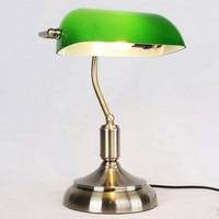 Traditional Antique Green Bankers Table Office Desk Lamp Lounge Light 110V 220V 230V