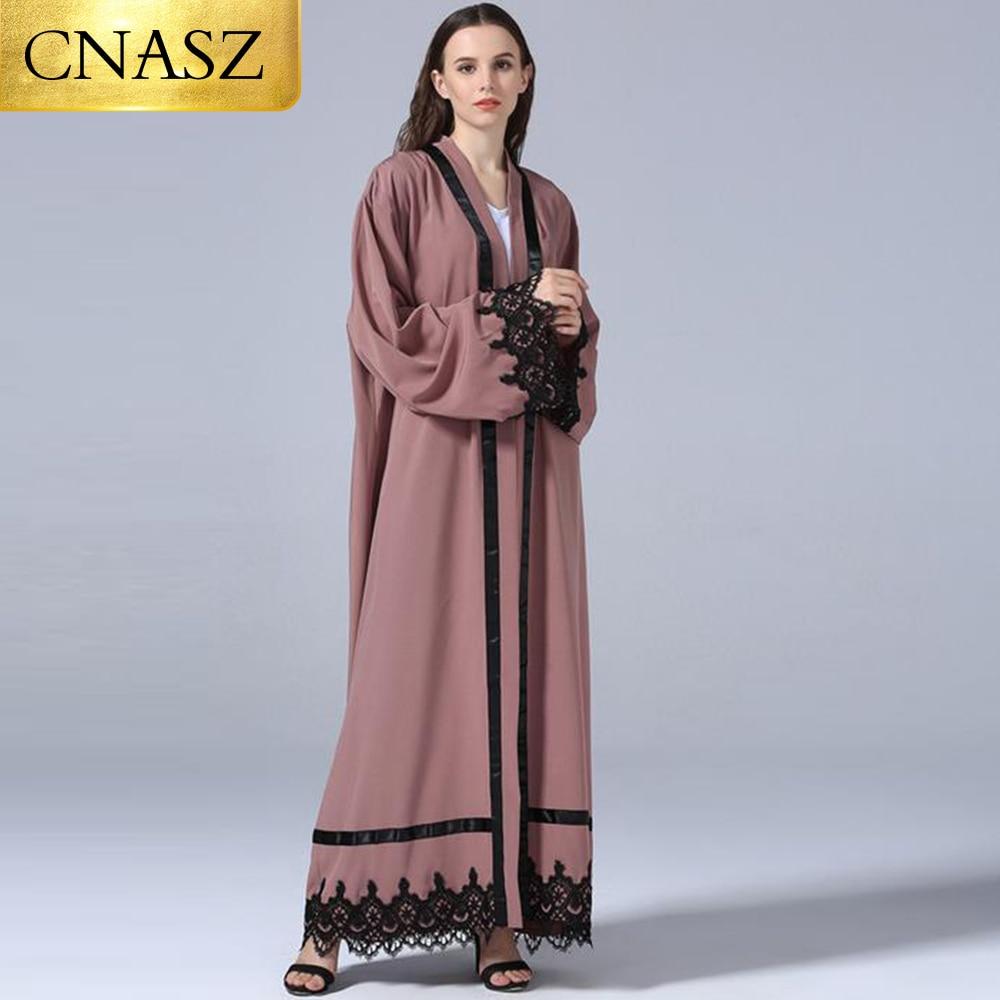 US $25.19 37% OFF|New Muslim Arab Hot Selling Modest Fashion Muslim Women  Open Kimono Abaya Dresses Plus Size Islamic Clothing-in Islamic Clothing ...
