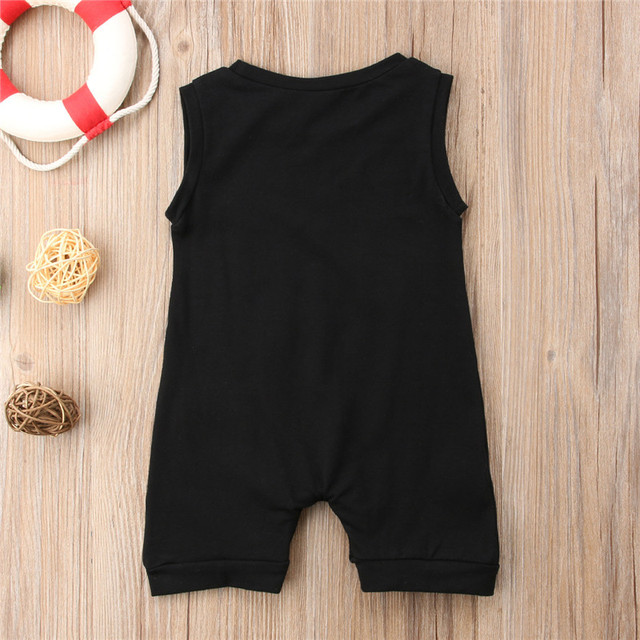 Summer Sleeveless Pocket Cotton Jumpsuit Sunsuit Boy Rompers Clothing Casual Cute Clothes 0-24M Toddler Kids Baby Boys Romper 4