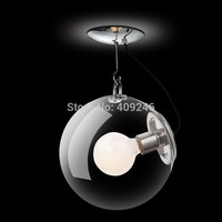 33CM DIY Ceiling Lamp Ball Bubble Clear Glass Pendant Lighting Edison Bulb Home Cafe Bar Dining