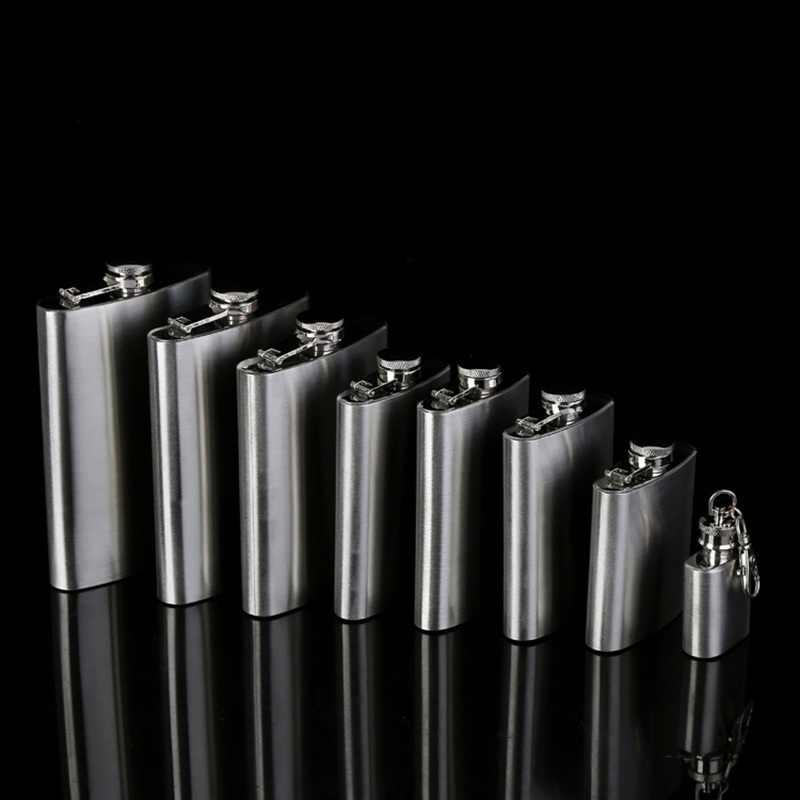 1 3 4 5 6 8 9 10 أوقية ويسكي جرة الفولاذ المقاوم للصدأ قارورة الورك الخمور ويسكي غطاء الكحول قمع درينكوير زجاجة جركن النبيذ هدية