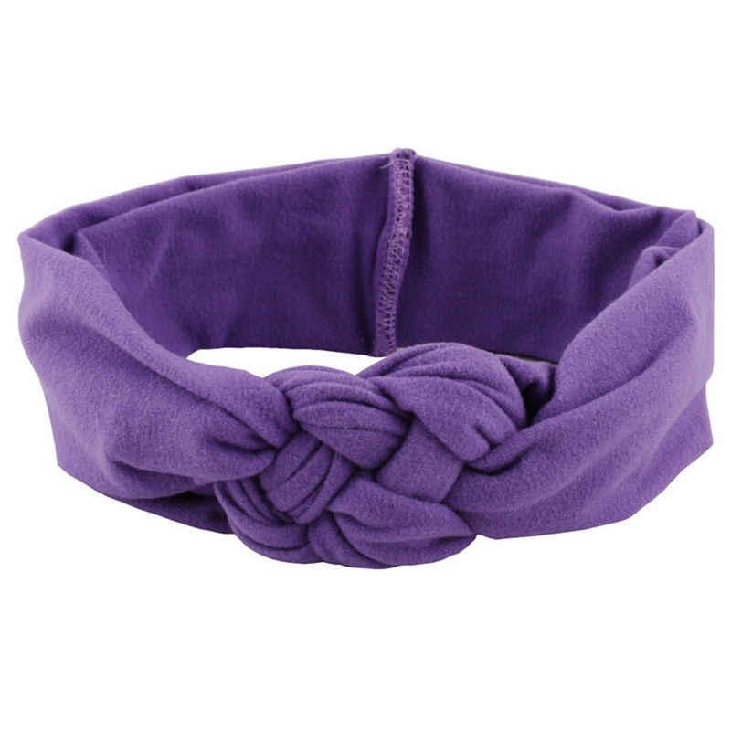 1 ADET Güzel Kız Çocuklar Yumuşak Hairband Türban Örme Düğüm Çapraz Kafa Bandı Şapkalar saç bandı Aksesuarları