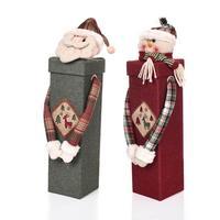 Santa Claus Santa Snowman Red Wine Bottle Pokrywa Torba Prezent Torba Worek Home Party Kolacja Tabela Dekoracje Świąteczne Ozdoby Xmas