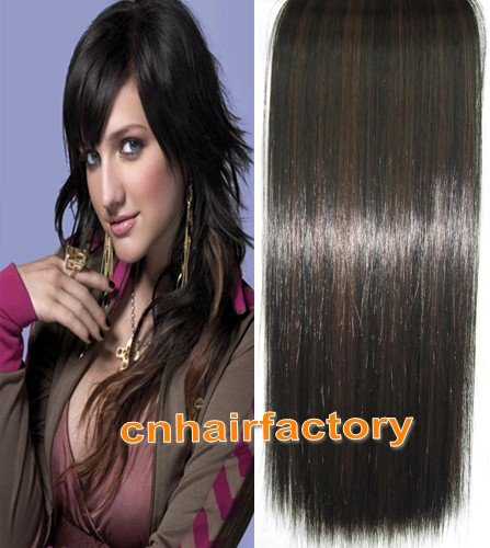 Heat Resistant Straight Clips In Hairpieces Synthetic Hair Clip In