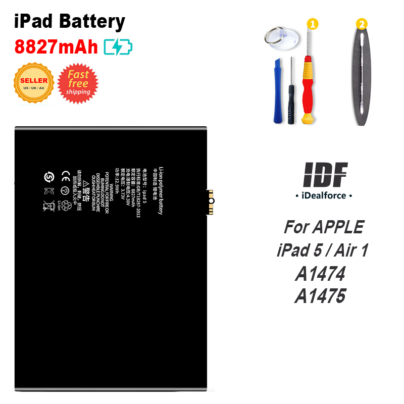 Battery A1474 A1475 For iPad5 Air1 Internal Li-ion Battery Replacement (8827mAh) / IPAD 5 . Air 1 .