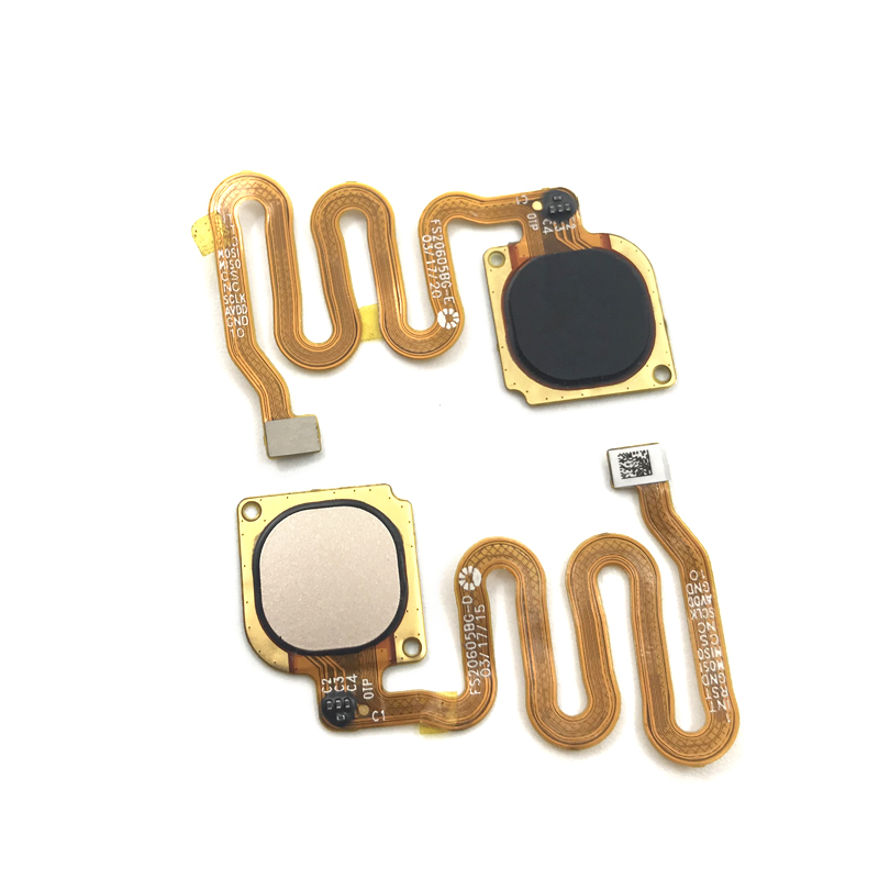 2 Color Fingerprint Sensor Home Return Key Menu Button Flex Cable For Huawei Honor 6c Pro Replacement Parts
