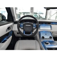 NEW good Car Accessories Sticker For Range Rover Velar transparent Promotion TPU Film stickers for Land Rover console