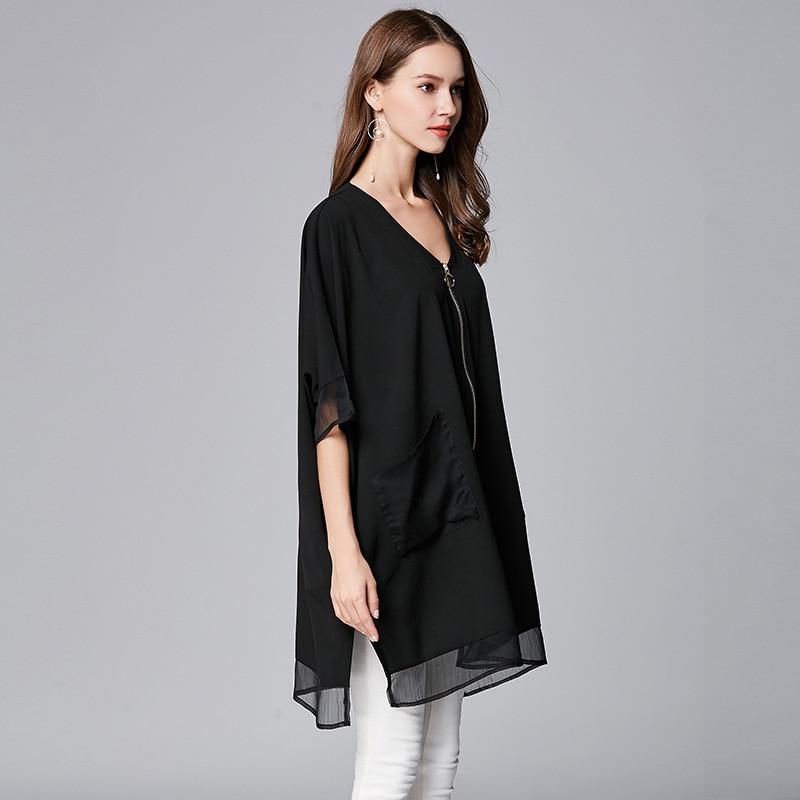 Mousseline Veste Taille Noir Coupe La Plus D'été Manteau vent Femmes Cardigan Vêtements Survêtement De Streetwear Soie Printemps 2018 Manteaux HCrwHOTxq