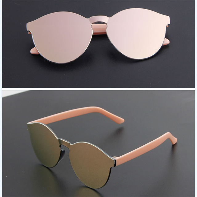 RILIXES 2018 Children reflective mirror sunglasses baby sunglasses male and female anti - UV glasses for boygirls