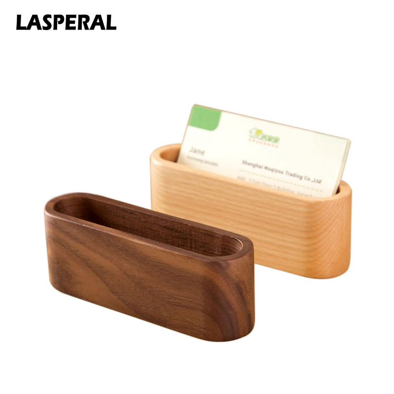 Beautiful Lasperal Waterproof Wooden Business ID Name Organizer Bank Card Holder ID  Card Case Storage Box For Desk Desktop Countertop In Storage Boxes U0026 Bins  From ...
