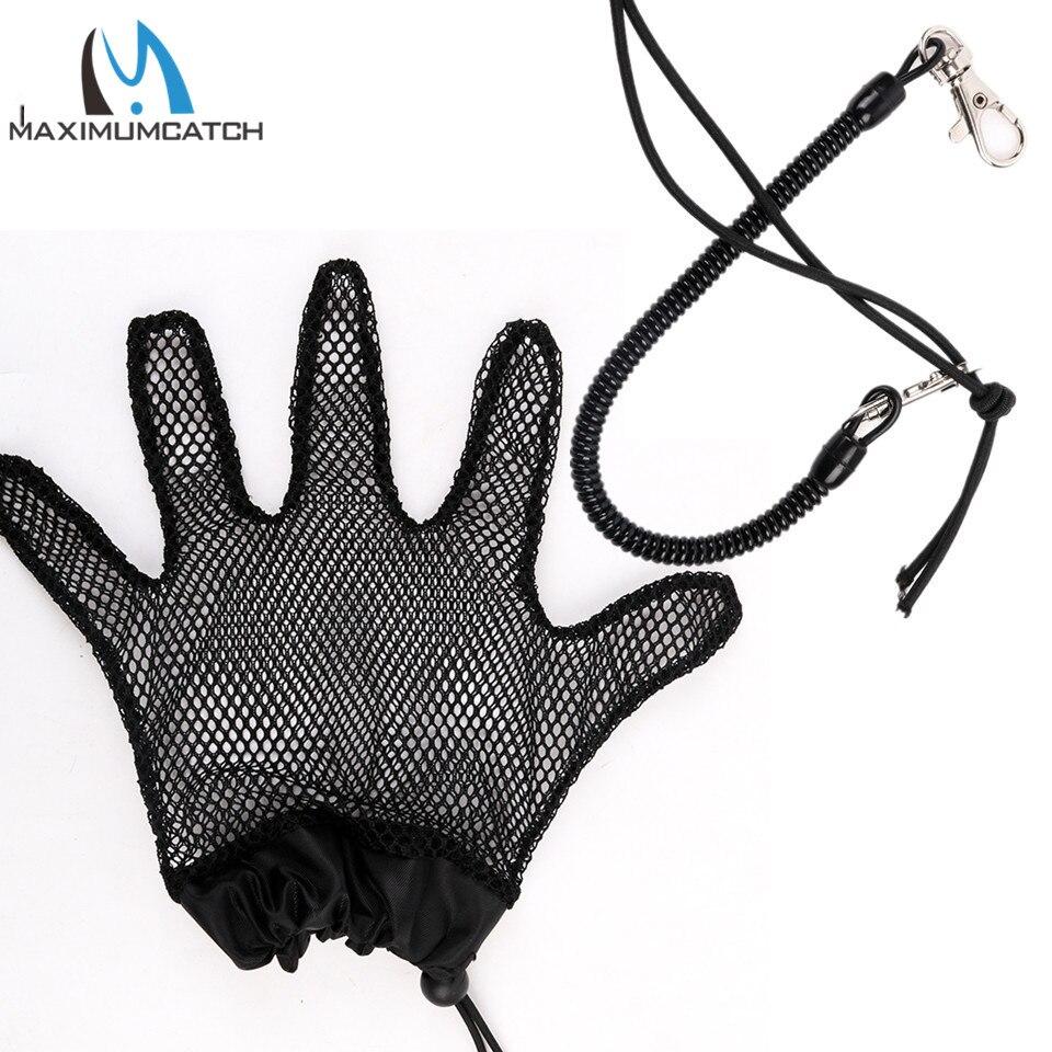 Maximumcatch Net Mesh Fishing font b Gloves b font Anti Slip Fishing font b Gloves b