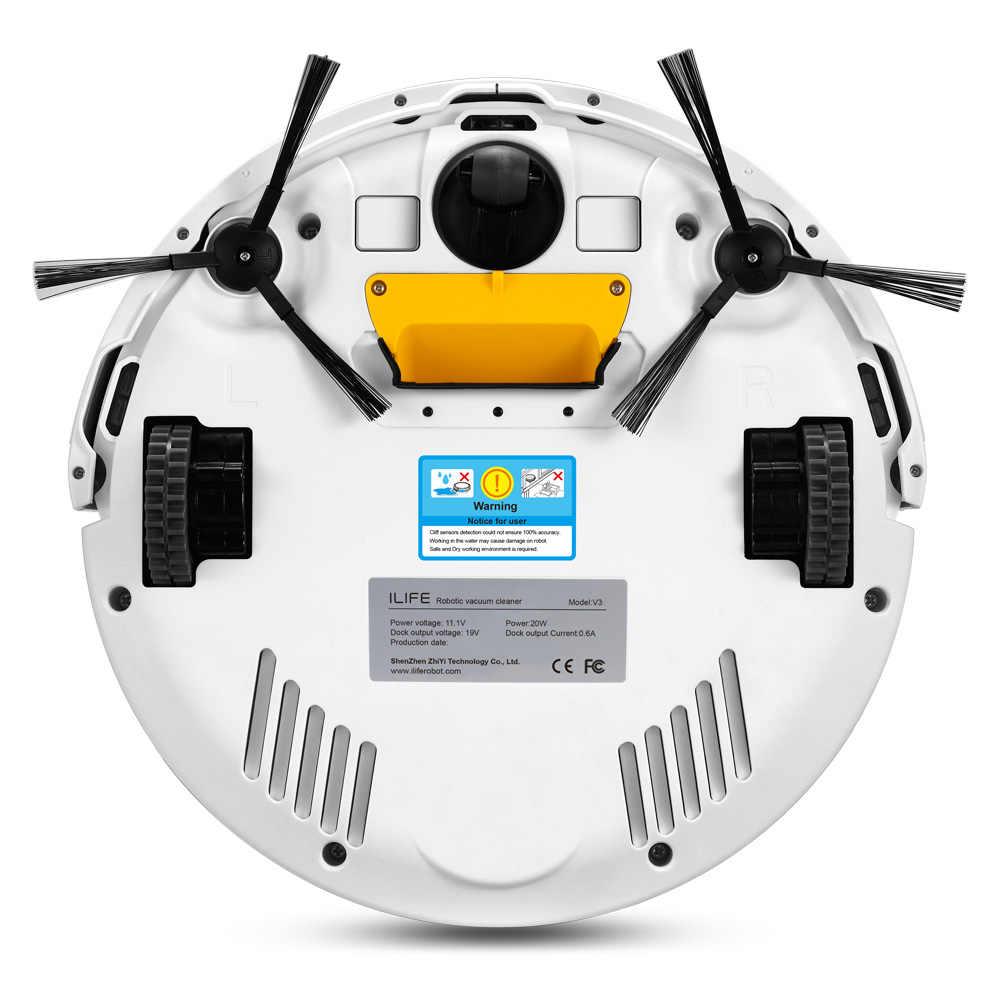 ILIFE V3S Pro Робот Пылесос , 600 Pa  уровень всасывания ,мощная уборка для пэт волос ,анти-столкновения, автоматически возвращаться в док-стануию для зарядки,три режима для чистки.предустановка план очистки.