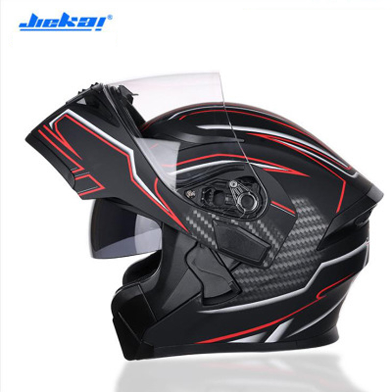 JIEKAI Black Motorcycle Helmet Motorcycle Full Face Helmet Motocross Men's Adventure Downhill Racing Casco Moto Helmet DOT стоимость