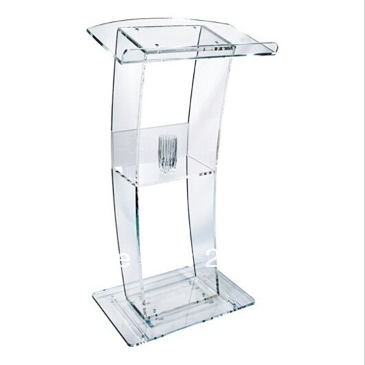 Modern Design Factory Sale Transparent Acrylic Lectern Modern Acrylic Lectern & Podium & Pulpit & Rostrum School Podium/p