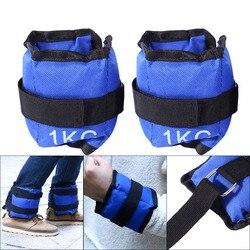 2 шт/пара, 1-6 кг, регулируемая ножка, на запястье, железная Песочная сумка, вес, ремень, силовая тренировка для спортзала, фитнеса, йоги, бега, С...
