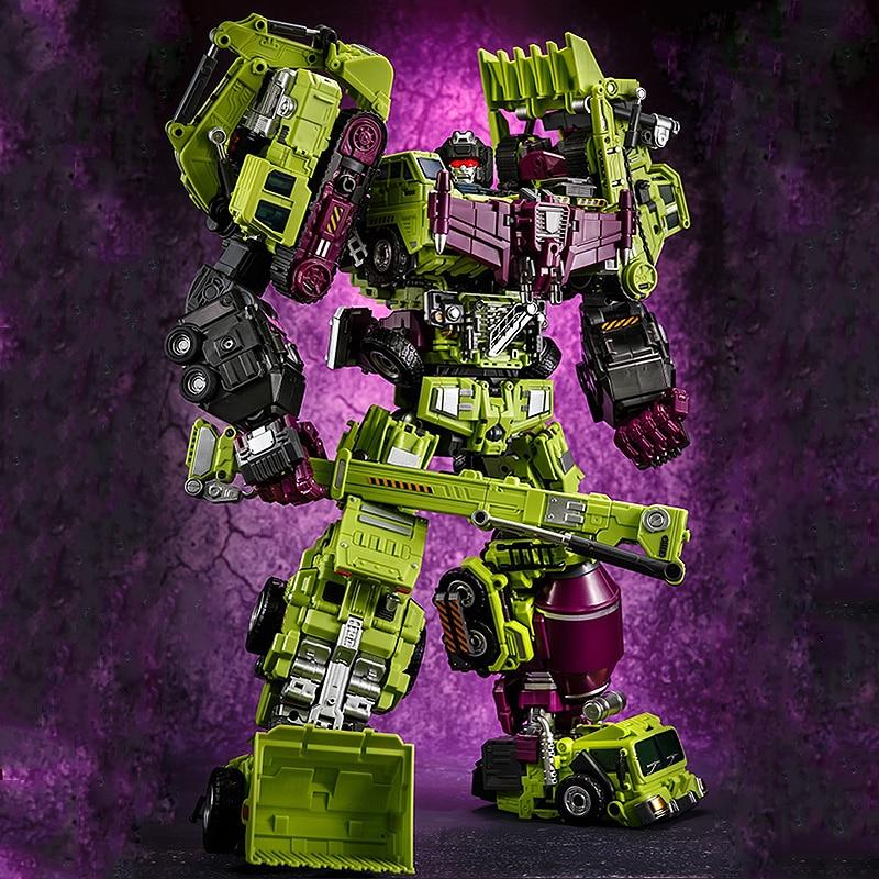ジンバオ Devastator 変換 GT 6 IN1 Bonecrusher スクラッパーミックスマスターフック KO アクションフィギュアロボットのおもちゃ小売ボックス  グループ上の おもちゃ & ホビー からの アクション & トイ フィギュア の中 3