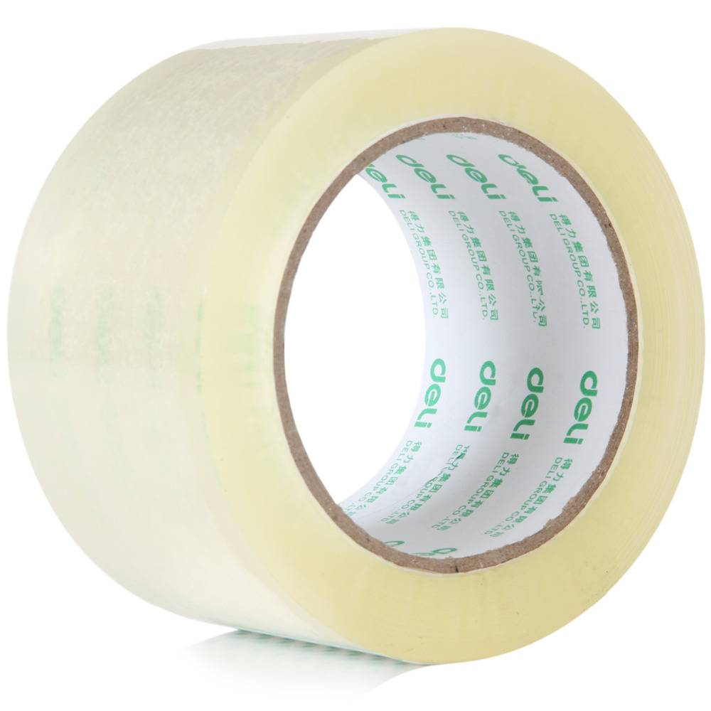 Deli Brand Transparent Tape Sealing Tape Packing Tape 48mm 100Y Wholesale And Retail Office Tools 40D30325 waterproof seam sealing tape roll satellite self amalgamating rubber sealing tape sealing cable repair lead