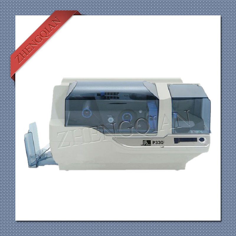 Zebra P330i id card printer single side pvc card printer with one 800015 440cn YMCKO ribbon