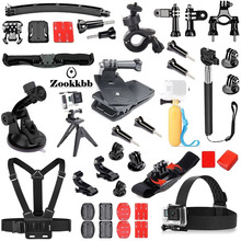 Zookkbb Sport Camera Accessories Strap Head Belt Strap Monopod Suction Cup Floating Grip For Gopro Hero4+ 4 3+ SJCAM SJ4000