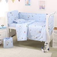Baby Bumper Beding Set Kids Bed Set Newborns Bed Line Baby Sheet Quilt Cover Pillowcase 7pcs/set Nordic Style Multiple Sizes