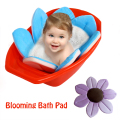 Baby Blooming Bath Mat Bathtub Foldable Aid Soft Liner Sink Shower For Babies Infant Flower Pattern Cushion Bath Rug Lotus
