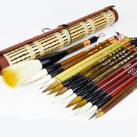 Deluxe Set High Quality Traditional Calligraphy Pen Brush Painting Large Middle Small Regular Script Writing Brushes Pen 15pcs