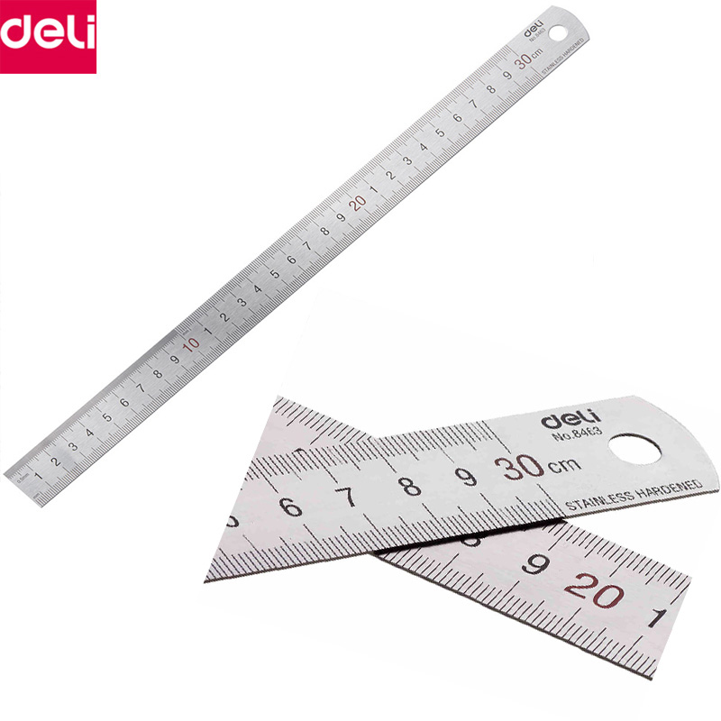 10PCS 30cm Metal Ruler Stainless Steel Straight Ruler Measuring Scale ruler Art Accessories Office School Supplies 8463 in Rulers from Office School Supplies