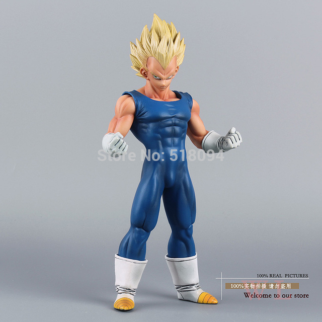 "Free Shipping Anime Dragon Ball Z Super Saiyan Vegeta PVC Action Figure Collection Model Toy 10"" 25cm"