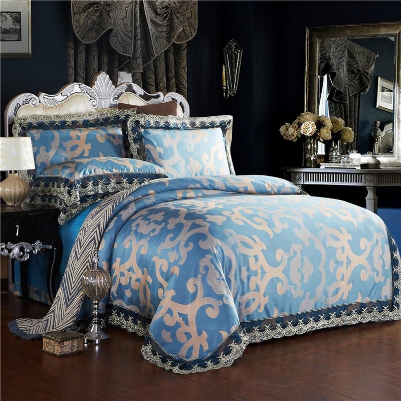 2016 4pcs bedding sets top class cotton tencel bedding set wedding bed set king sheets duvet. Black Bedroom Furniture Sets. Home Design Ideas