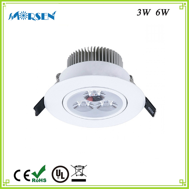 Morsen Best Quality 3w 6w Led Round Downlight Cabinet Light 220v Dimmable Recessed Lamp For
