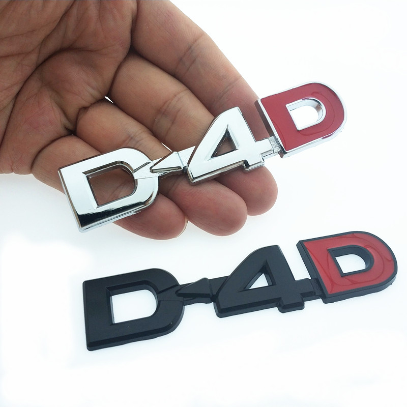 CDIY 3D Metal D4D Logo Car Side Emblem Rear Trunk Decorative Sticker Styling For BMW Toyota Toyota Honda Ford Accessories