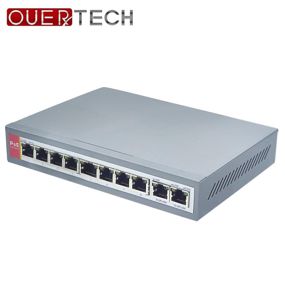 IEEE802 3af 8 2 Port PoE Switch For IP Camera Power Over Ethernet PoE Optical Transmission