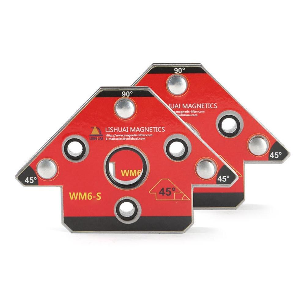 2 pz/set Potente Freccia Magnetica Pinza di Saldatura Magnete Al Neodimio Supporto della Saldatura Per Tridimensionale Saldatura Magnete