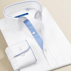 Smart Fünf männer Kleid Shirts Hohe Qualität Langarm Slim Fit Weiß Shirts Männer Marke Männliche Kleidung 2018 Neue business büro
