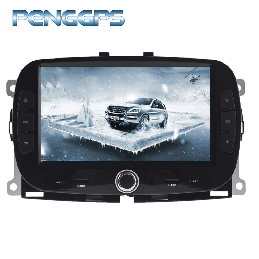 0cta Core Android 9 0 Car CD DVD Player for FIAT 500 2015 GPS Navigation 1024X600