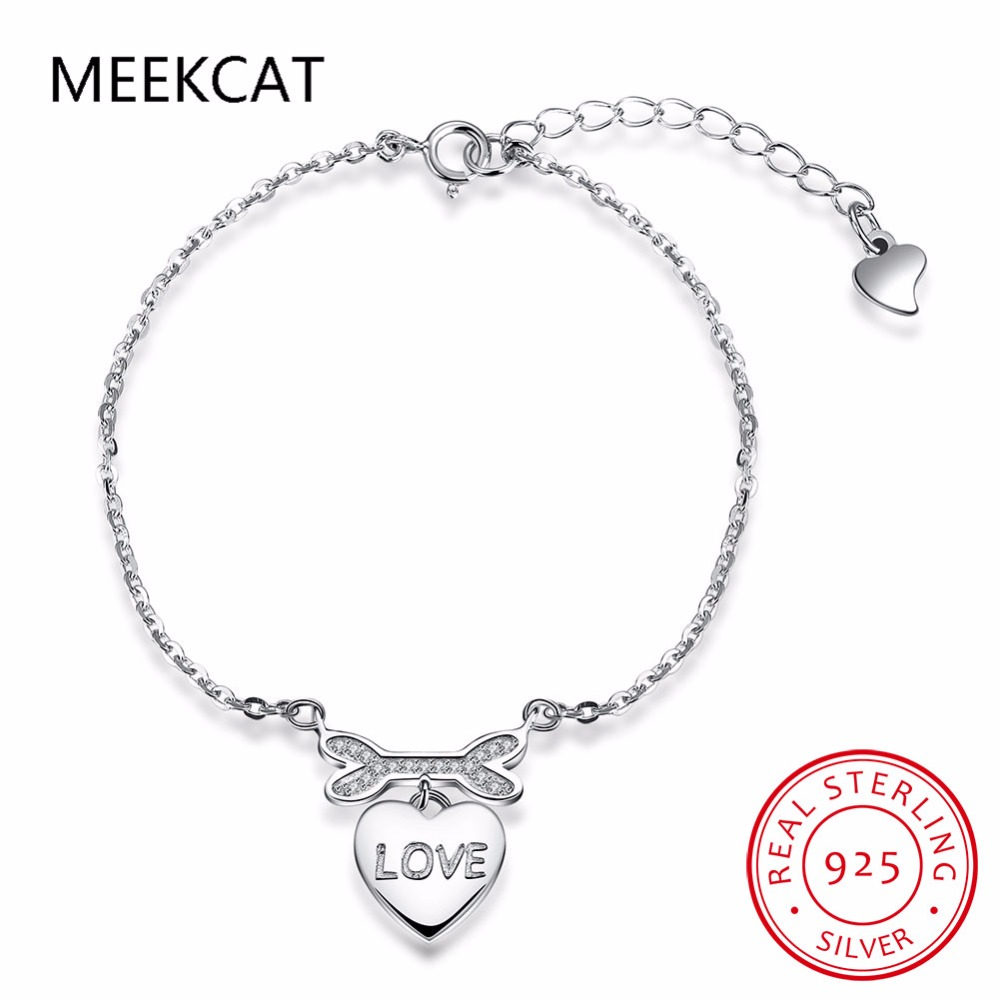 2017 New Dog Theme 925 Sterling Silver Bone Bangle Bracelet love heart Charm Toggle Bracelet Animal