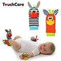Sozzy bebê brinquedo do bebê chocalhos toys animal meias cinta correia de pulso com meias nos pés do bebê bug wrist rattle