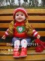 Frete grátis crianças boneca bebê inteligente falando boneca pano crianças bonito menina brinquedo presente tamanho grande 50cm