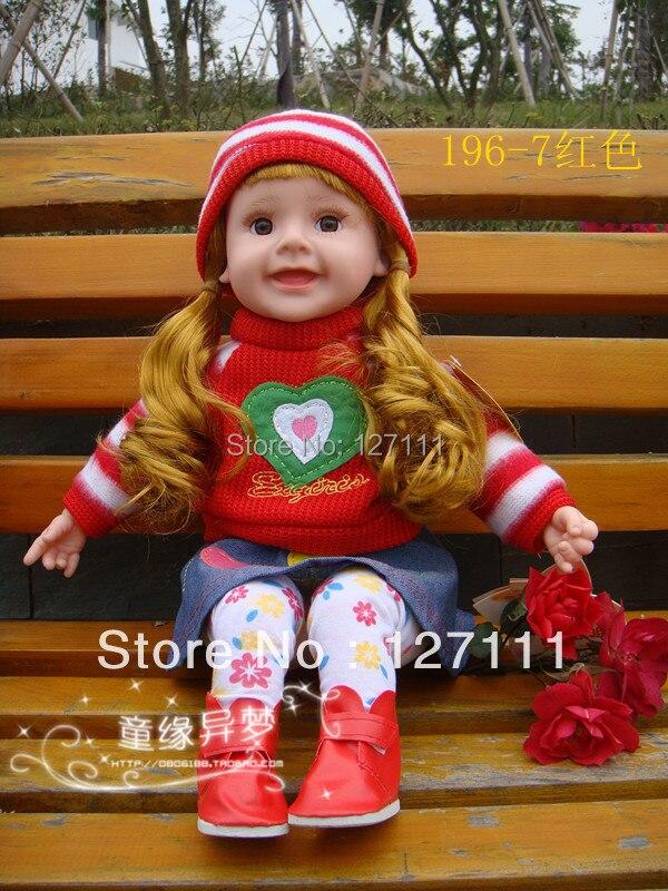 Livraison gratuite enfants poupée bébé Intelligent parlant poupée tissu enfants mignon fille jouet cadeau grande taille 50cm