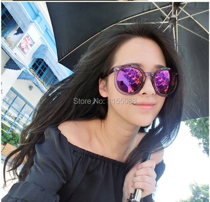 10pcs/lot Fashion cool multicolour Mirror glasses sunglasses women Vintage sunglasses lady Designer sunglasses