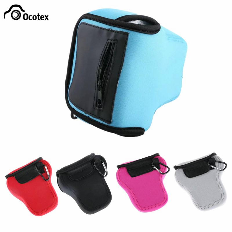 Ocotex Neoprene Camera Bag Soft Inner Case For Olympus E-m5 Mark Ii Omd Em5ii Em5 Pouch Protect Case Black/blue/gray/pink/red Camera/video Bags