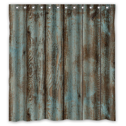 BBJ Vintage Rustic Old Barn Wood Custom Shower Curtain 66 X72 Waterproof Fabric For Bathroom In Curtains From Home Garden On