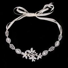 Moda romántica Cristal Tocado de Perlas Tiara de La Boda de Plata de La Manera Con La Novia Contratado Pelo Hairwear Niña de las Flores